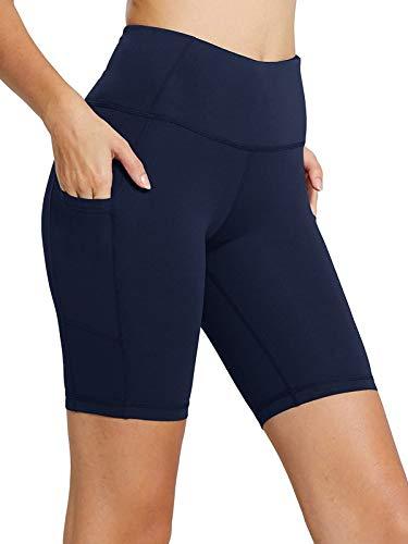 ZANZEA Women Athletic Sweat Shorts Comfy Stretchy Lounge Sport Workout Gym Yoga Pocket Short Pants Midi-Blue S