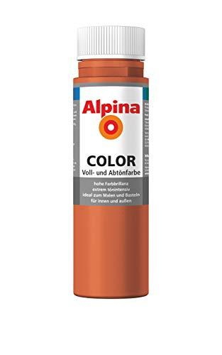 ALPINA COLOR Abtönfarbe, Bastelfarbe, Wandfarbe, Italian Red, 250 ml