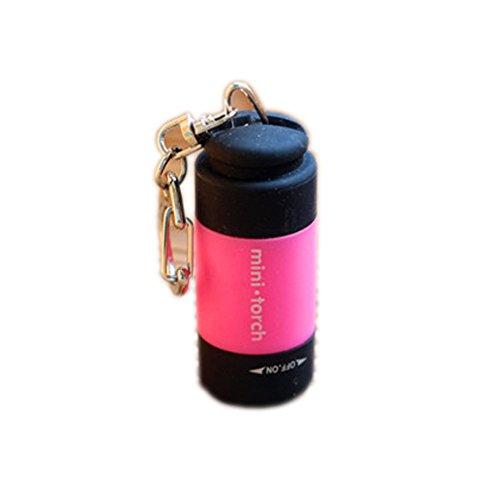 Rose USB Mini-torch rechargeables LED Lampe de poche extérieur Petite lampe de poche