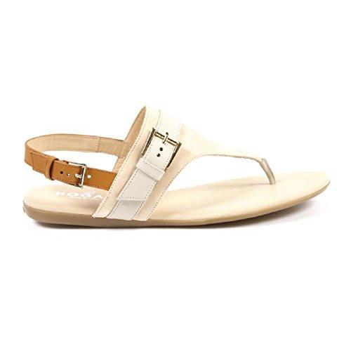 Hogan dames sandalen van leer met hak 0,5 cm