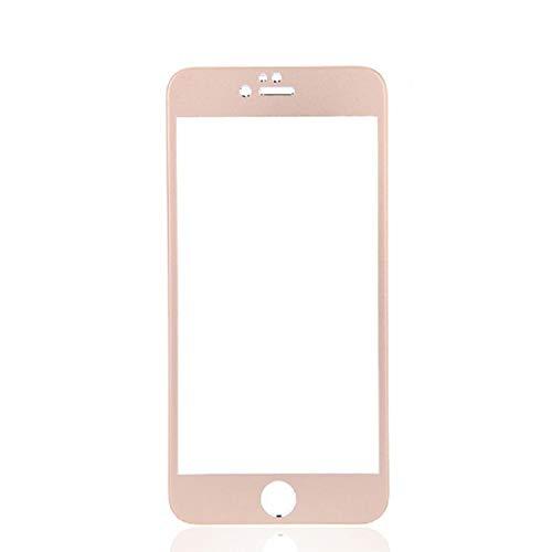 Movilrey Protector para Apple iPhone 7 Dorado Completo 3D Cristal Templado de...