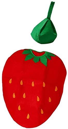 hsj Toy Funny Kids Junge Mädchen Erdbeere Klage-Kind-Geburtstags-Party-Halloween-Kostüm-Abendkleid Erdbeere Exquisite Verarbeitung