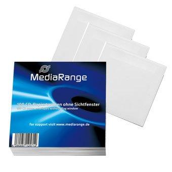 1000 (10x 100) MediaRange CD DVD Papierhüllen ohne Sichtfenster
