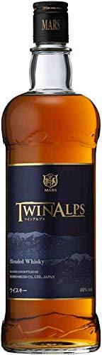 〔ウイスキー〕 40度 マルスウイスキー ツインアルプス 750ml 6本 本坊酒造株式会社