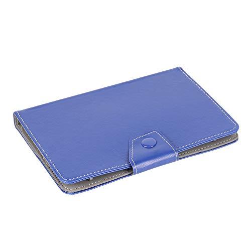 CVBN Funda Universal para Tableta de 7 Pulgadas Funda Protectora con Soporte de Piel sintética, Azul Oscuro