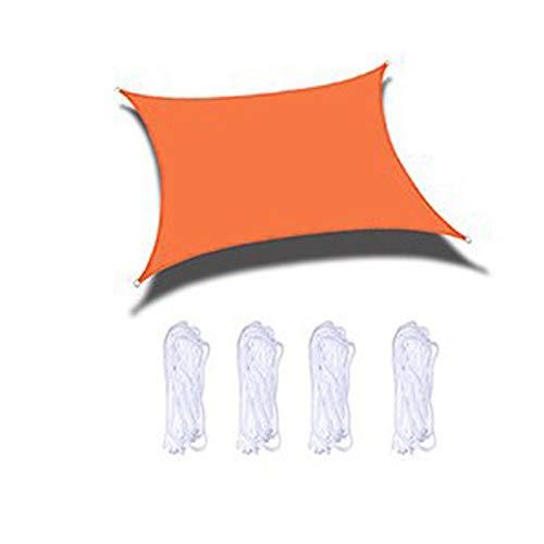 SYRA Vela De Parasol Naranja Impermeable, para Instalaciones Y Actividades Al Aire Libre, Rectángulo De Vela De Parasol(Size:2X4m/7X13ft)