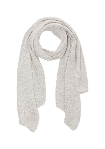 s.Oliver Damen 38.899.91.3674 Schal, Grau (Grey/Black Knit 94x1), One Size (Herstellergröße: 1)