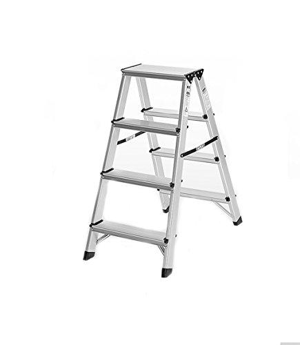 JXXDDQ Scaletta Multifunzionale Interna in Alluminio a Doppia Faccia Pieghevole Pieghevole per Uso Domestico (Size : #3)