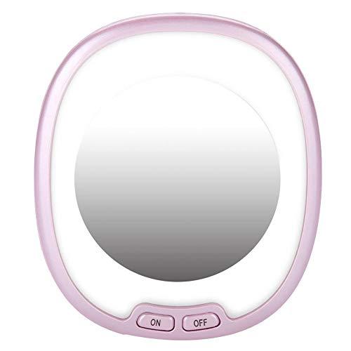 SanyaoDU make-upspiegel met led-vullicht, make-up spiegel met houder, schakelaar op batterijen (niet meegeleverd)