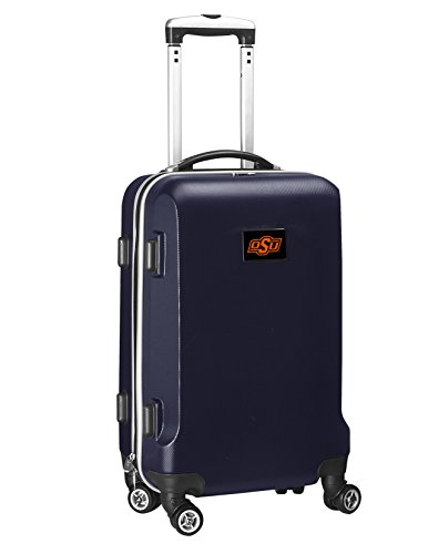 %78 OFF! Denco NCAA Oklahoma State Cowboys Carry-On Hardcase Luggage Spinner, Navy