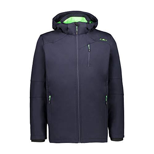 CMP Softshelljacke mit abnehmbarer Kapuze Softshelljacke für Herren 2XL B.Blau-Neongrün