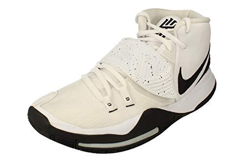 Nike Mens Kyrie 6 White/Black Bq4630 100 - Size 9.5