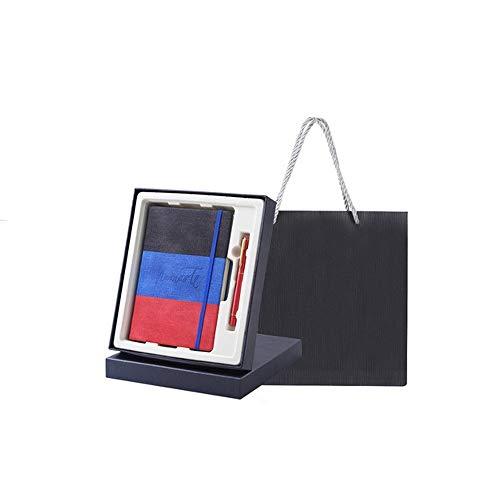 Xyhcs Cuaderno, Bloc de Notas de Costura de Tres Colores - Diario Nota Diario y Plan - Caja de Regalo / 140 Hojas (Color : F)
