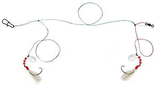 Sea Striker FF2-20NW Flounder Rig 2-2/0 Nickel Hooks w/White Nylon