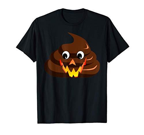 Divertido Disfraz de Halloween de Emoji de Caca Sarcstica Camiseta