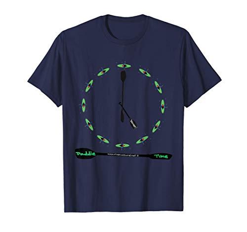 Kanu, Kajak, Kanadier und Paddeln, Paddle Time T-Shirt