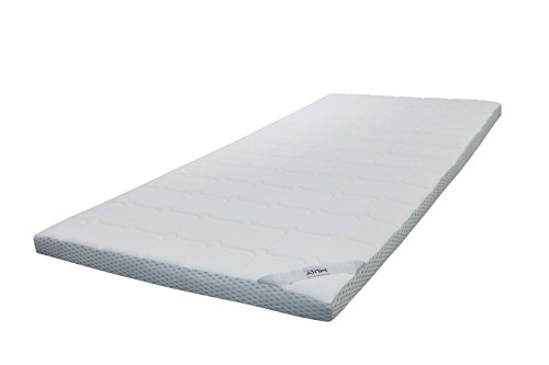 Topper EBI – A1.180.7 Matratzenauflage mit gestepptem, waschbarem Bezug, Viskose - Matratzenauflagen, viscoelastische Auflage, 180x200x7 cm, weiß