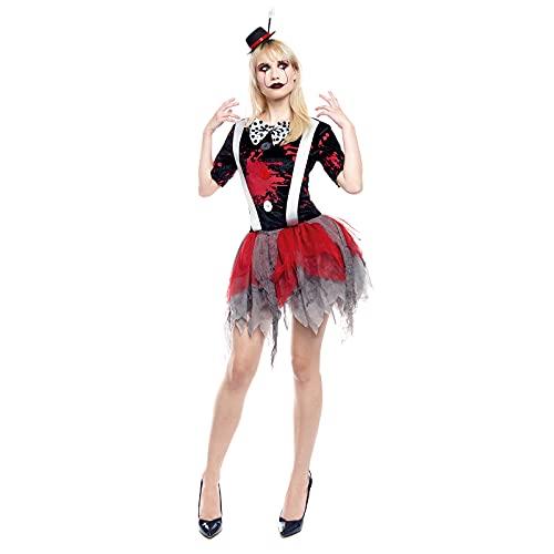 Disfraz Payasa Asesina Mujer con Tut [Talla L]Tallas Adulto S a LDiseo Original Disfraces Halloween para Mujer