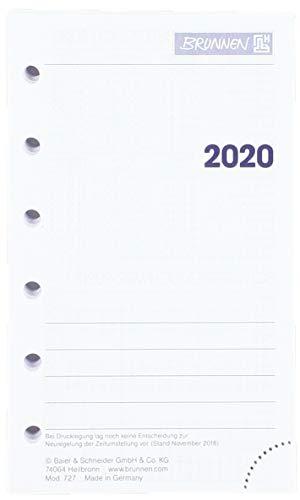 Brunnen 107270020, Wochenkalendarium Zeitplansysteme 2020, 2 Seiten = 1 Woche, Blattgröße 7, 6 x 12, 7 cm