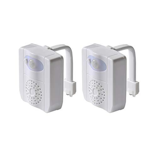 OSALADI 2Pcs Sensor de Movimiento Luz de La Noche del Inodoro 16 Colores Cambiantes Luz de La Noche de La Luz de La Fragancia de La Taza del Inodoro para El Baño de Navidad