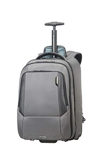 SAMSONITE Cityscape - Tech Laptop with Wheels Rucksack, 48 cm, 30 Liter, Steel Grey