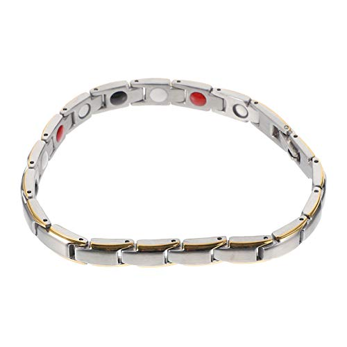 Milisten Magnetic Bracelet Healthy Magnetic Bracelet Anklets Jewelry for Men Women Arthritis Carpal Tunnel Gloden