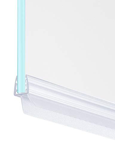 MAALIMA - 1x Duschtür Dichtung, Duschdichtung, Seal, 80cm lange Gummilippe - für 6mm, 7mm, 8mm Glasdicke - Duschleiste mit Wasserabweiser, Spritzschutz an der Dichtung für Duschwanne (1x 80 cm)