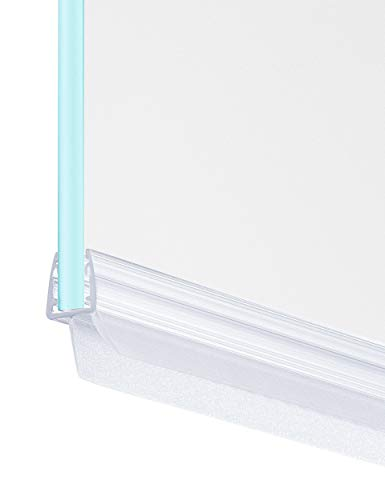 MAALIMA - Premium Dichtung universal | Duschdichtung für 6mm, 7mm, 8mm Glasdicke | 80 cm lange Gummilippe | Duschleiste mit Wasserabweiser an der Dichtung (1x 80 cm)