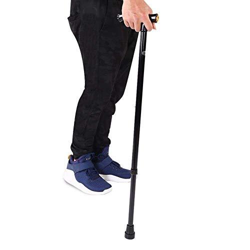 Bastón de bastón LED para caminar, aleación de aluminio, mango de bastones plegables telescópicos con luz LED ajustable en altura, muletas