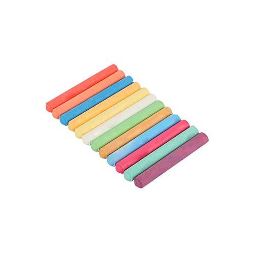 Tiza de colores, 12 piezas sin polvo para pizarra infantil, dibujo o escuela