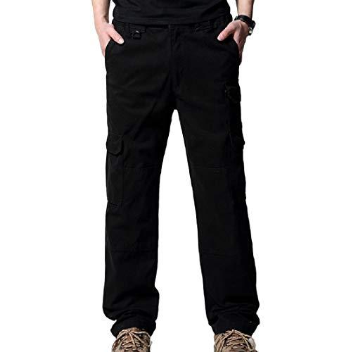 Aooword-men clothes heren militair net casual broek pure kleuren-cargobroek