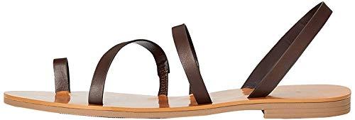 Marchio Amazon - find. Flat Gladiator Sandali alla schiava, marrone (cioccolato), 37 EU