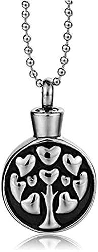 NC66 Collares Simples y Elegantes para Hombres y Mujeres Collares de Fiesta a Juego Collares de Botellas de Perfume de Acero de Titanio