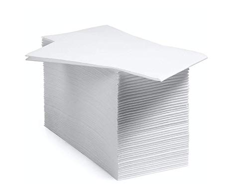 Paquete de 100 servilletas decorativas de baño y toallas de mano desechables | Toallas de papel suave y absorbente para invitados de papel para cocina, baño, cenas, bodas o eventos [blanco]