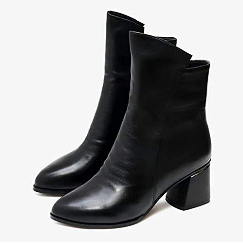 HOESCZS HOESCZS Frauen Schuhe Herbst Und Winter Frauen Stiefel Wild Fashion Rivet Wies Stiefel Shorts Mit Martin Stiefel  authentisch
