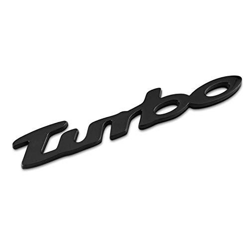 None/Brand Turbo Auto Posteriore Anteriore Adesivo Decalcomania Emblema Stemmi Emblemi Distintivo per C-Hevrolet Malibu Cruz - Chrome,Nero