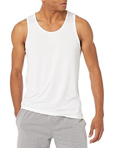 Amazon Essentials Tech Stretch Tank Athletic-Shirts, Blanco, US (EU XS)