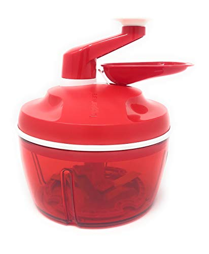 New Tupperware Quick Chef Food Processor, New Color, Sheer Red