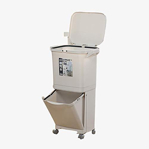 Papelera De Reciclaje para Residuos De Cocina   Unidad De Papelera De Reciclaje De Basura con Contenedor De Compost 45 L