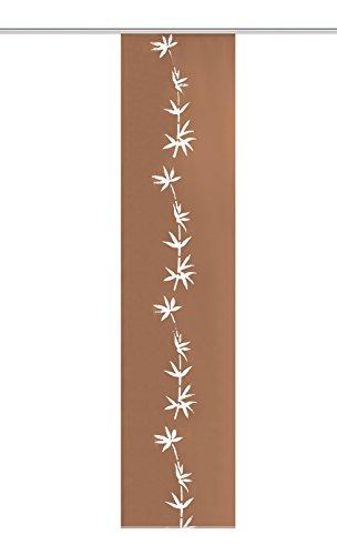 Home Fashion Schiebewand, Stoff, Braun, 245 x 60 cm