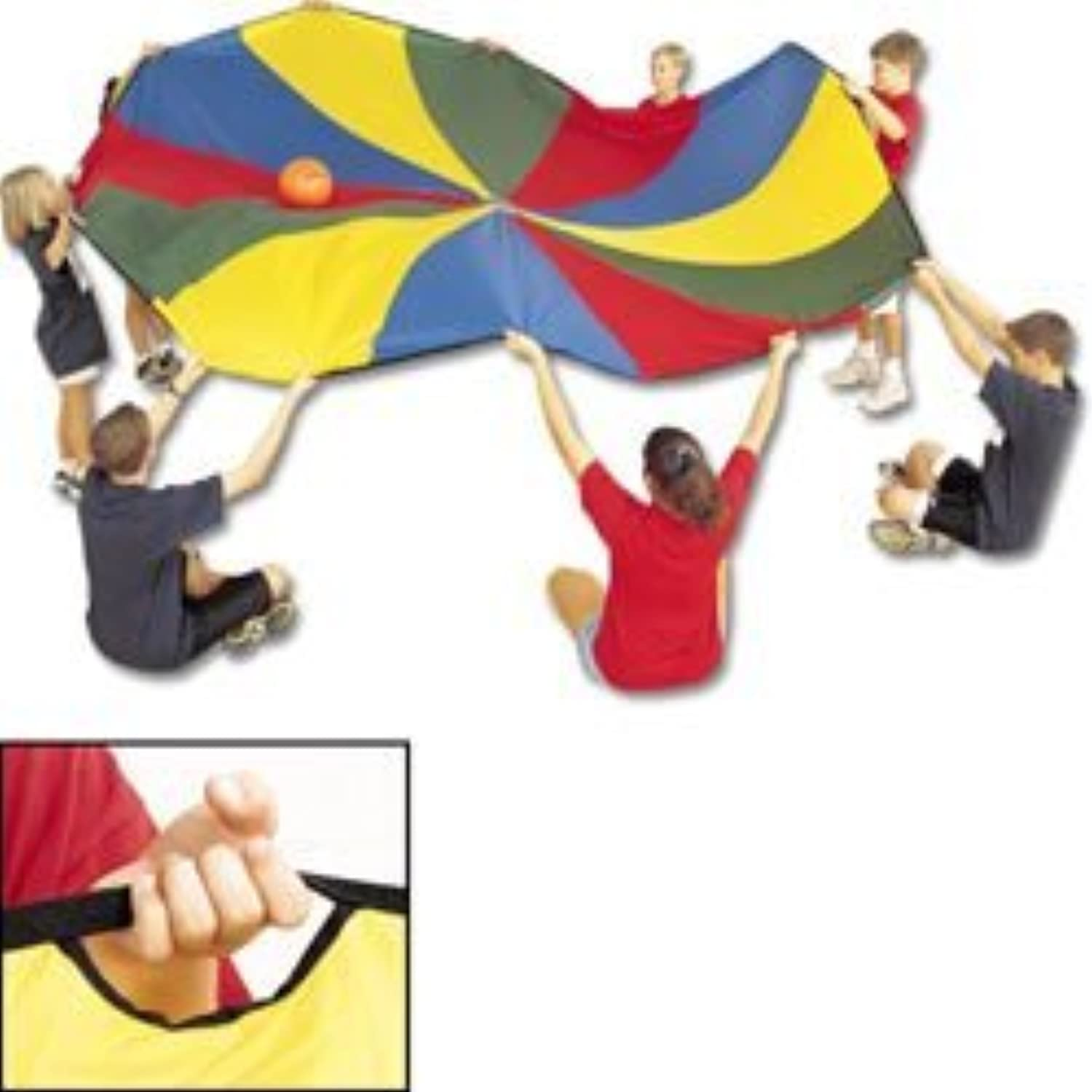 US Games Parachute With 32 Handles (45Foot) by US Games