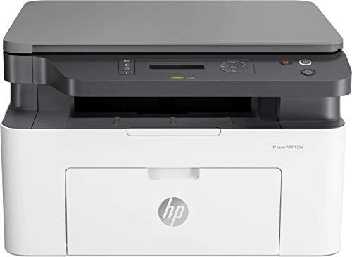 HP LaserJet MFP 135a, Stampante Laser Multifunzione Monocromatica, Scanner e Fotocopiatrice, Tecnologia ReCP, Tecnologia Risparmio Energetico, Funzion