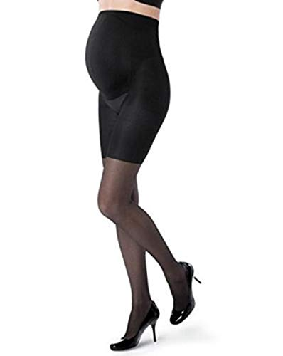 Assets 836m Spanx Maternity Black Marvelous Mama Patterned Fishnet Pantyhose (2) (2)