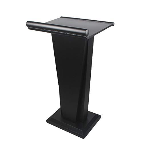 TnSok Stehendes Podium Edelstahl Podiumempfangsrestaurant Podium Tall Podium für Bodenkanzelhektre-Rezeption (Color : Black, Size : 50.5x55x105cm)