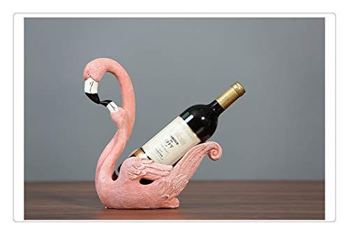 Aiglen Estante de Vino, gabinete de Estante de Vino con Estilo Europeo Adorno de Flamenco Decoración de Sala de Estar Personalidad Creativa Interior Gabinete de TV Artesanía Bar De (Color : Pink)