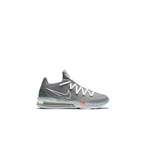 Nike Lebron Xvii Cd5007-004 - Zapatos de baloncesto bajos para hombre, gris (Gris, negro, rojo), 45.5 EU