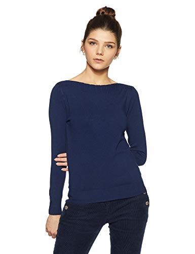Qube By Fort Collins Women's Sweater (CH103_Blue_L)
