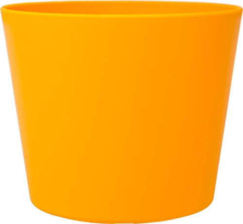 Leni Maceta Flori 16, diámetro de 16,5 cm x 14 cm, Color Amarillo, P 0837-5