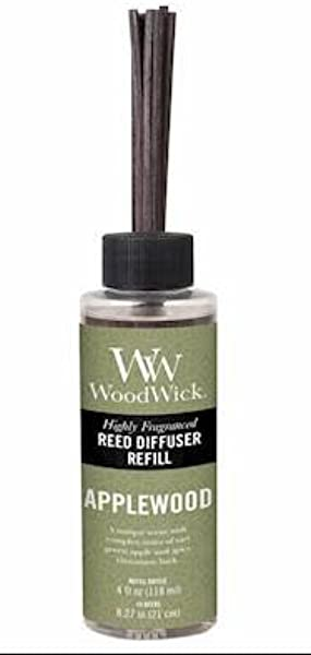 Woodwick Candle Reed Diffuser Refill 4 Oz Applewood