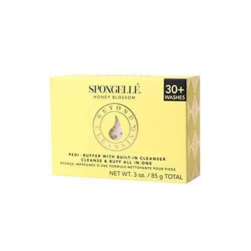 Spongellé Pedi-Buffer - Reinig, Exfoliate & Poolse voeten - Honing Blossom